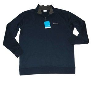 New Columbia Half Zip Blue Sweater Long Sleeve